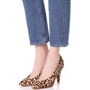Dolce Vita Luella Leopard Calf Hair pumps